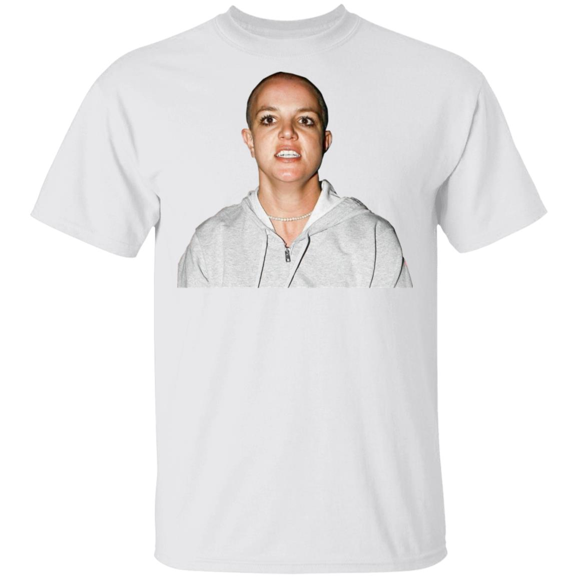Britney spears shaved head t shirt