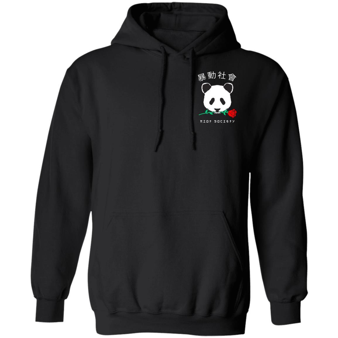 Riot Society Panda Rose Mens Hoodie